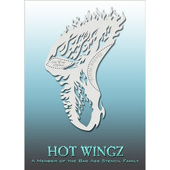 Bad Ass Hot Wingz Stencils - HOTWING8007 - Flames