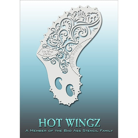 Bad Ass Hot Wingz Stencils - HOTWING8011 - Fancy Swirls