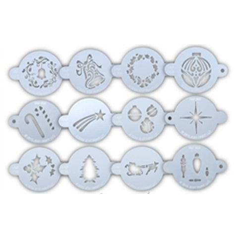 TAP Face Paint Stencils - Holiday Set of 12 Stencils and Ring