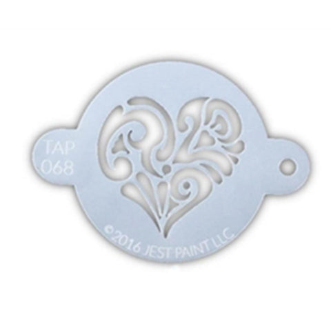 TAP Face Paint Stencil - Ornate Heart (068)