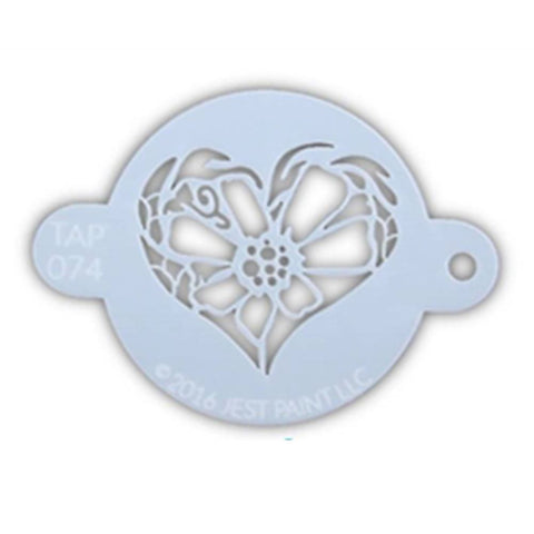 TAP Face Paint Stencil - Flower Heart (074)