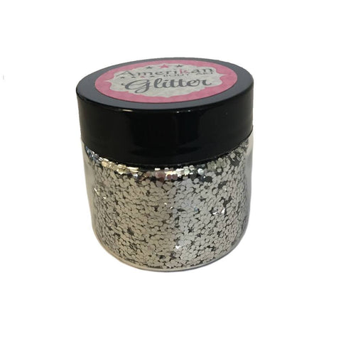 Amerikan Body Art Chunky Glitter - Chrome Silver