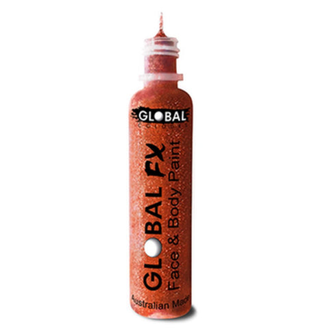 Global FX Iridescent Red Glitter Gel (36 ml)