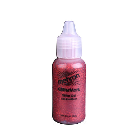 Mehron Red GlitterMark Liquid Glitter  (0.5 oz)