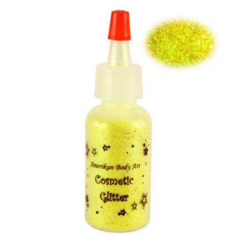 Amerikan Body Art Electric Yellow Opaque Glitter  (0.5 oz)