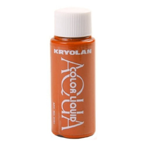 Kryolan Aquacolor Orange Liquid Face Paint  (1 oz)