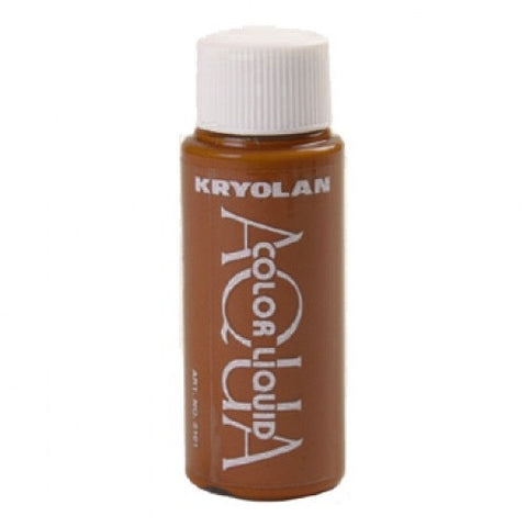 Kryolan Aquacolor Brown Liquid Face Paint  (1 oz)