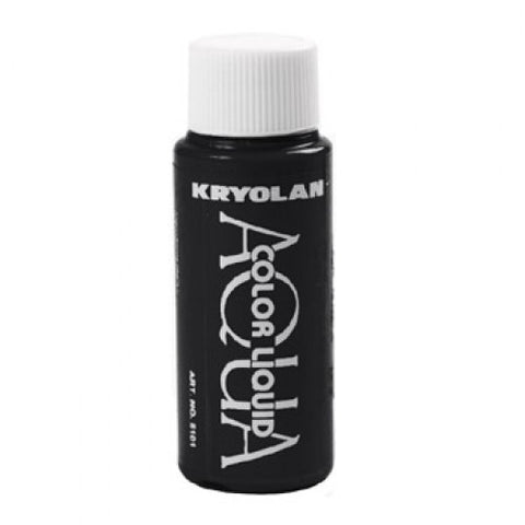 Kryolan Aquacolor Black Liquid Face Paint  (1 oz)