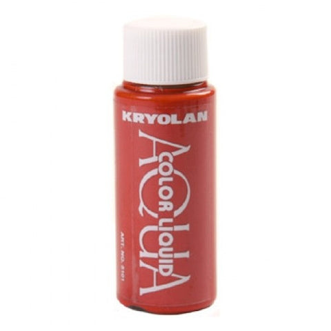 Kryolan Aquacolor Red Liquid Face Paint  (1 oz)