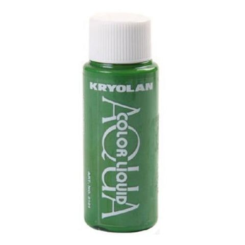 Kryolan Aquacolor Green Liquid Face Paint  (1 oz)
