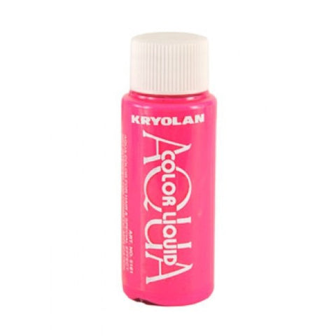 Kryolan Aquacolor Dayglow Pink Liquid (1 oz)
