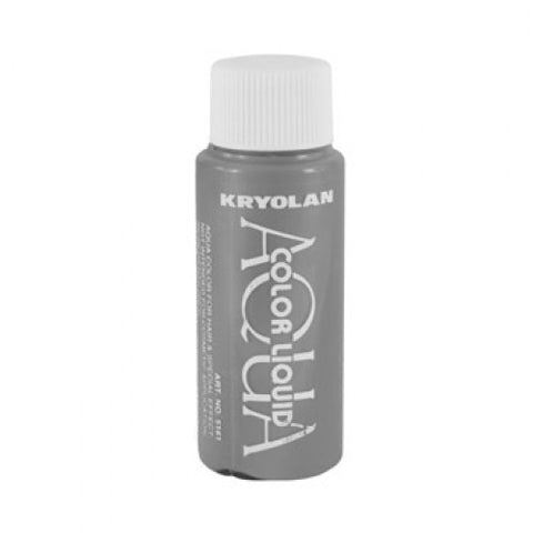 Kryolan Aquacolor Metallic Silver Liquid Face Paint  (1 oz)
