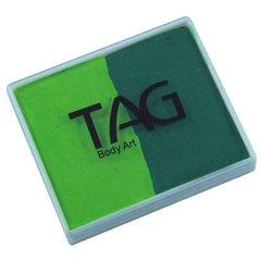 TAG Light Green and Medium Green 2 Color Cake (50 gm)
