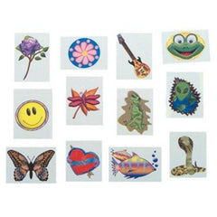 Kids 144 Pack Assorted Temporary Tattoos