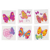 Kids 144 Pack Butterflies Temporary Tattoos