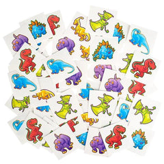 Kids 2 Pack Cute Dinosaur Temporary Hand Tattoos