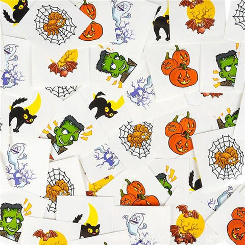 Kids 144 Pack Halloween Temporary Tattoos