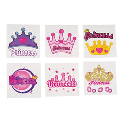 Kids 144 Pack Princess Temporary Tattoos