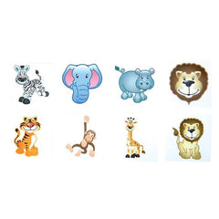 Kids 144 Pack Zoo Animals Temporary Tattoos