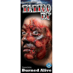 Tinsley Transfers Burned Alive Gorywood Temporary Tattoo