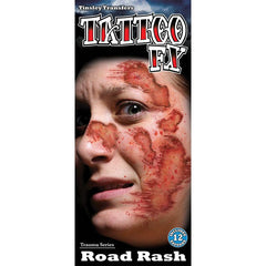 Tinsley Transfers Road Rash Gorywood Temporary Tattoo