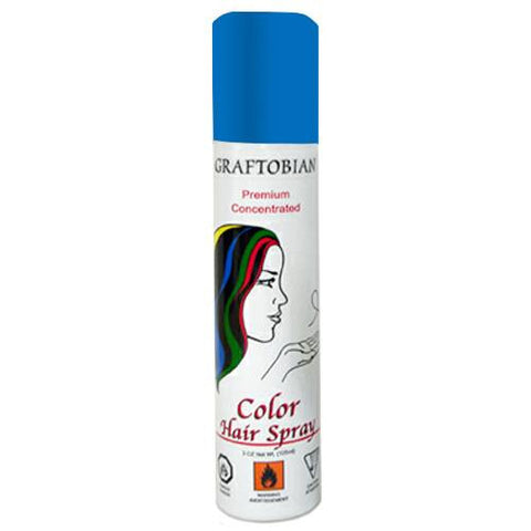 Graftobian Blue Color Hair Spray  (5 oz)