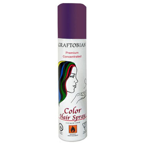 Graftobian Purple Color Hair Spray  (5 oz)