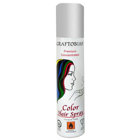 Graftobian Silver Color Hair Spray  (5 oz)