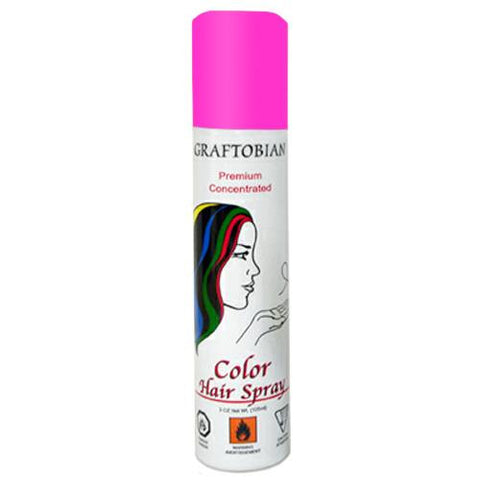 Graftobian Fluorescent Pink Color Hair Spray  (5 oz)