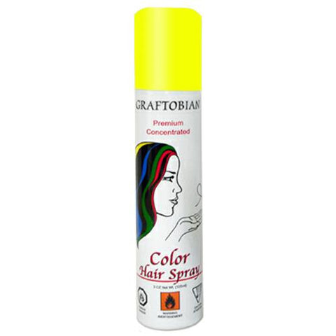 Graftobian Fluorescent Yellow Color Hair Spray  (5 oz)