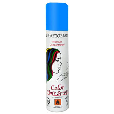 Graftobian Fluorescent Blue Color Hair Spray  (5 oz)
