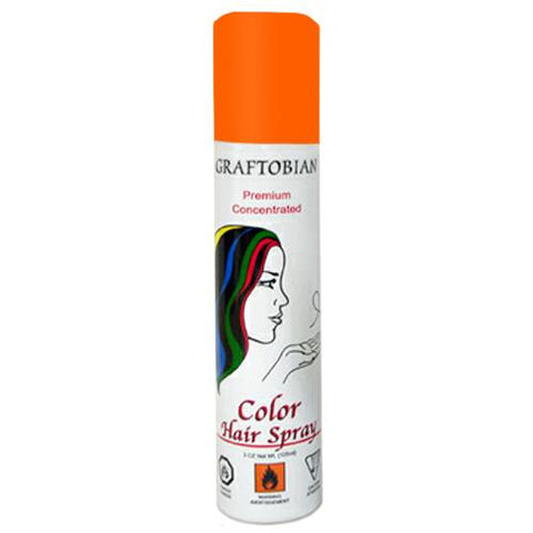 Graftobian Fluorescent Orange Color Hair Spray  (5 oz)
