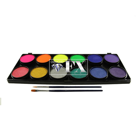 Diamond FX 12 Color Neon/Metallic Palette (10 gm each)