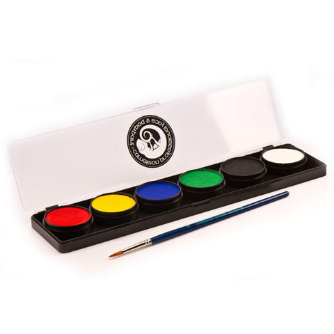 Cameleon 6 Color Base Face Paint Palette (10 gm each)