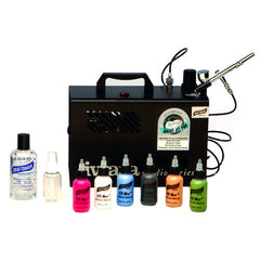 Graftobian Single Airbrush System with 6 Primary Colors (2 oz)