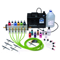 Graftobian Six Brush Airbrush System with 12 Colors (2 oz)