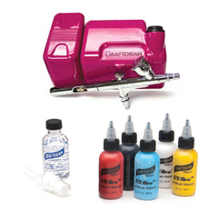 Graftobian Hot Pink Walk Around FX Aire Airbrush System