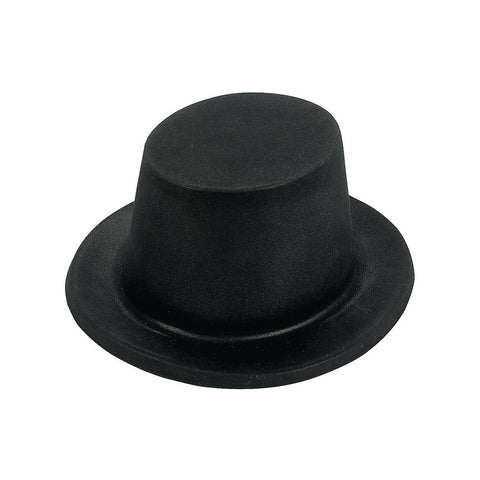 Black Flocked Top Hat (Fun Express)