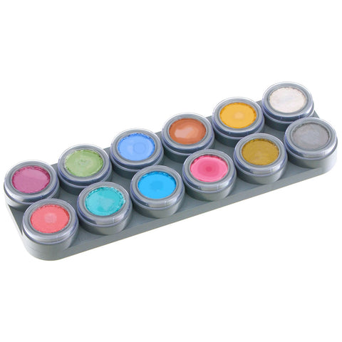 Grimas 12 Color Metallic Face Painting Palette (2.5 ml each)