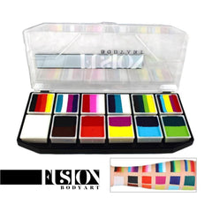 Fusion Body Art Spectrum Palette - Carnival Kit (12 Cakes/10 gm)