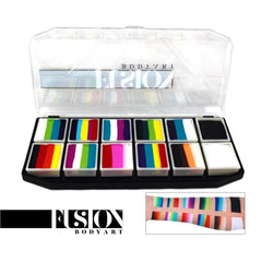 Fusion Body Art Spectrum Palette - Rainbow Explosion (12 Cakes/10 gm)