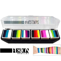 Fusion Body Art Spectrum Palette - Rainbow Burst (6 Cakes/10 gm)