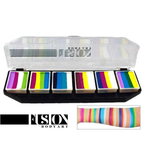 Fusion Body Art Color Punch Spectrum Palette (6 Cakes/10 gm)