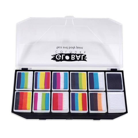 Global 12 Color Rainbow Explosion Fun Stroke Palette (10 gm)