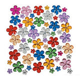 Plastic Face & Body Blings - Flowers, Assorted (150/pack)