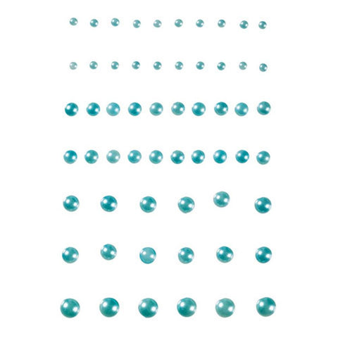Self Adhesive Pearl Face & Body Blings - Light Blue (58/pack)