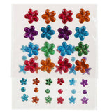 Self Adhesive Rhinestone Blings - Flowers/Rounds (52/pack)
