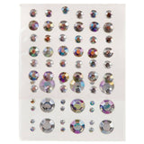 Self Adhesive Rhinestone Blings - Round, Clear AB (69/pack)