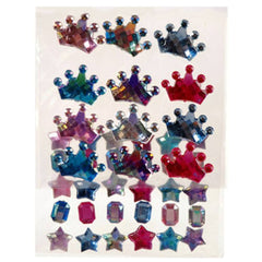 Self Adhesive Rhinestone Blings - Tiara/Gem/Star (42/pack)