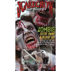 Scarecrow Zombie Teeth Paint & Blood Kit